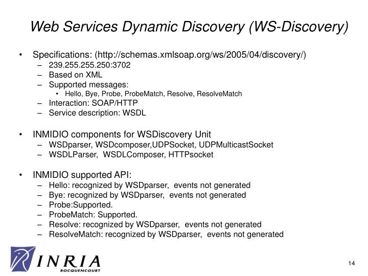 Web Services Dynamic Discovery (WS-Discovery)