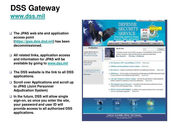 DSS Gateway
