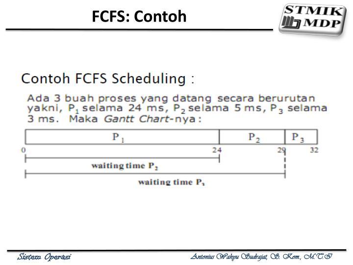 FCFS: Contoh