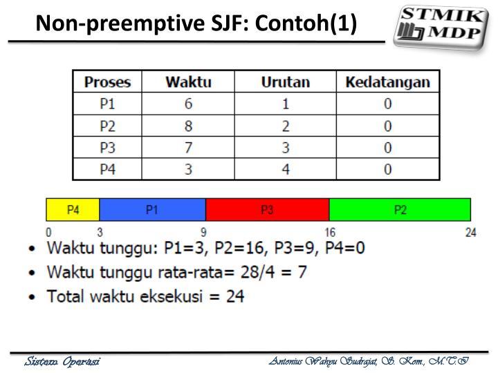 Non-preemptive SJF: Contoh(1)