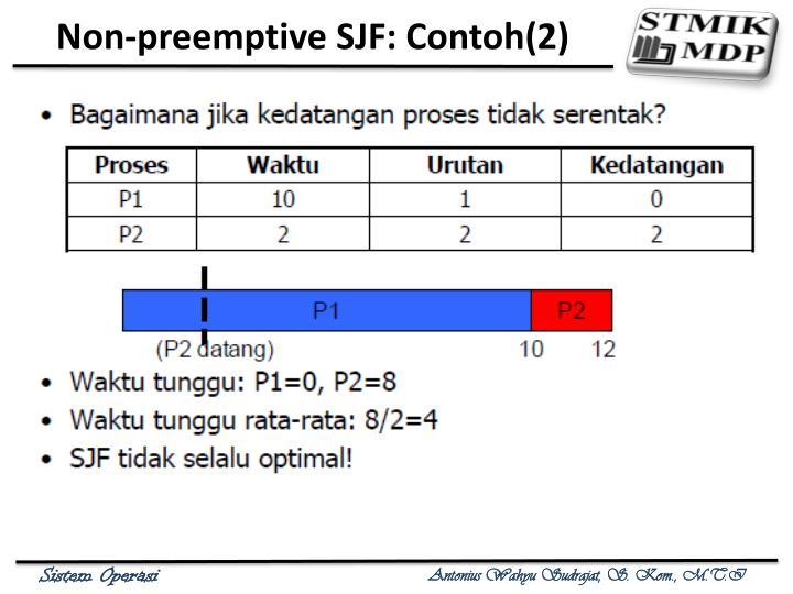 Non-preemptive SJF: Contoh(2)