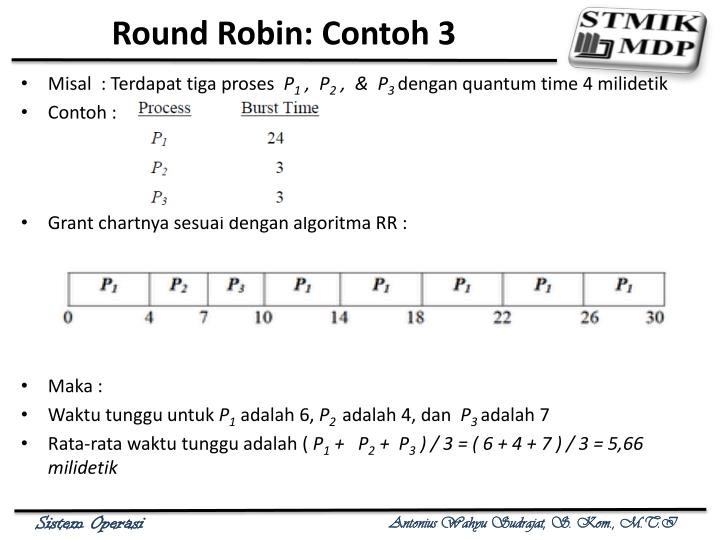 Round Robin: Contoh 3