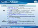 next steps actions 1