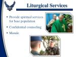 liturgical services