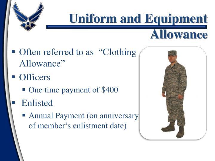 Uniform and Equipment