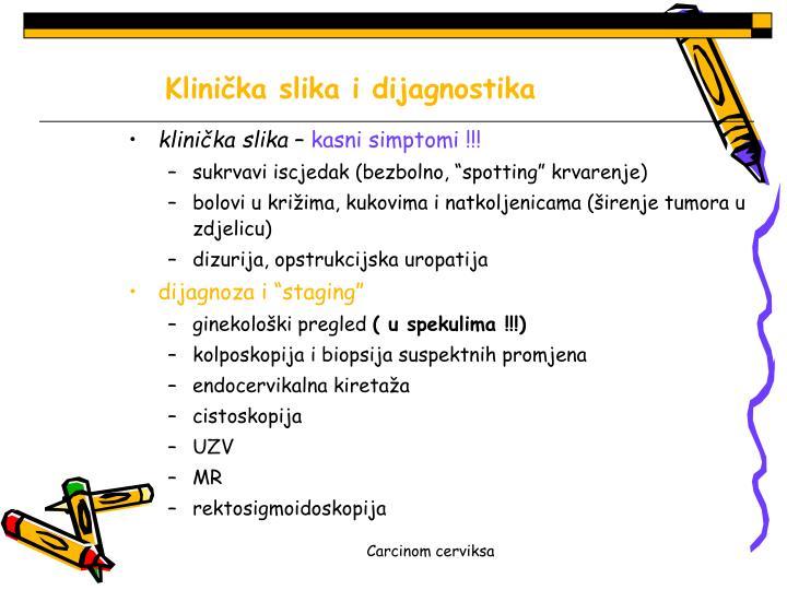 Klinička slika i dijagnostika