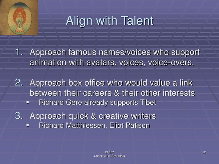 Align with Talent