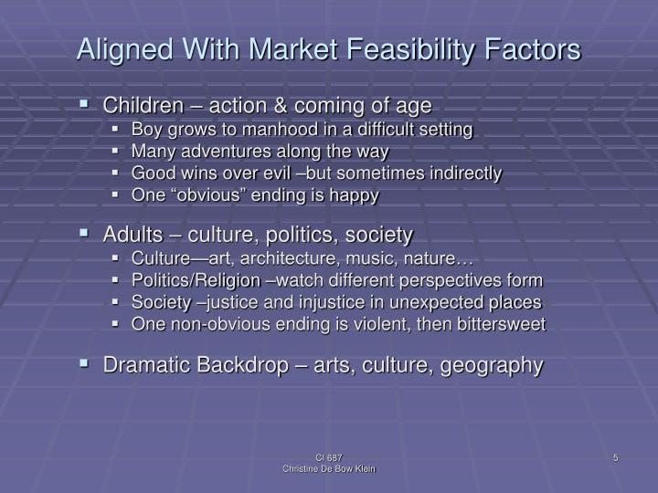 Aligned With Market Feasibility Factors