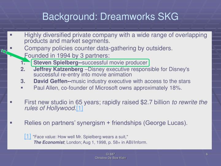 Background: Dreamworks SKG