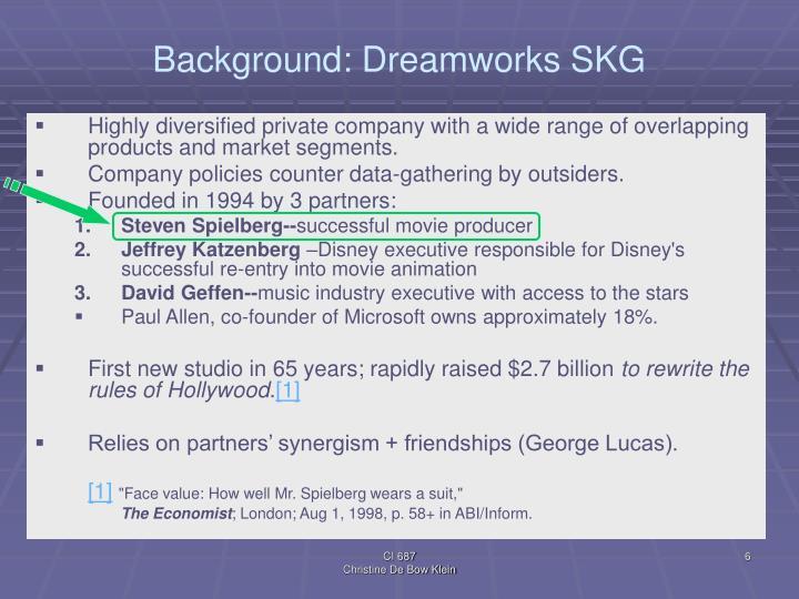 Background: Dreamworks SKG