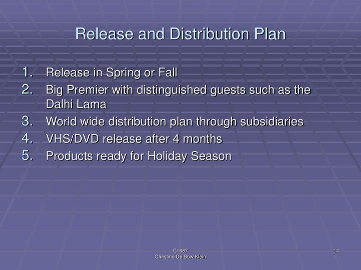 Release and Distribution Plan