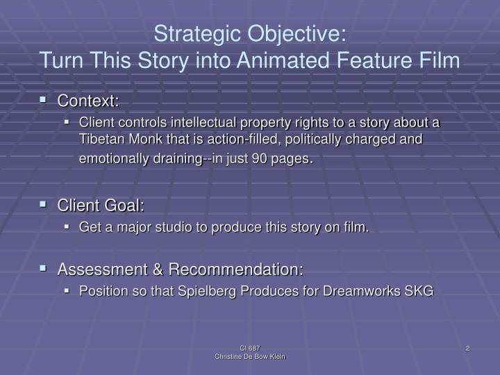 Strategic Objective: