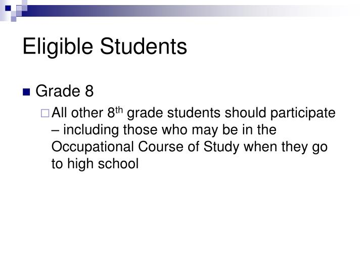 Eligible Students