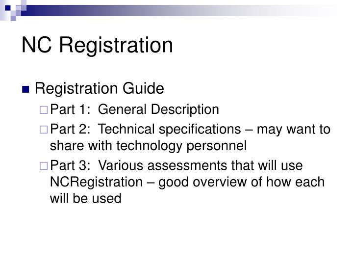 NC Registration