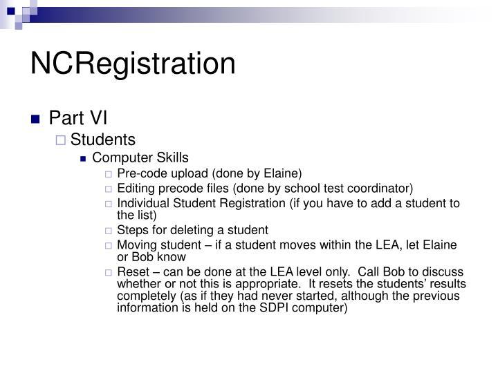 NCRegistration