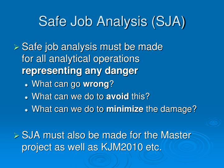 Safe Job Analysis (SJA)