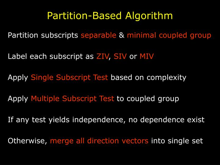 Partition-Based Algorithm