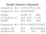 sample sequence alignment