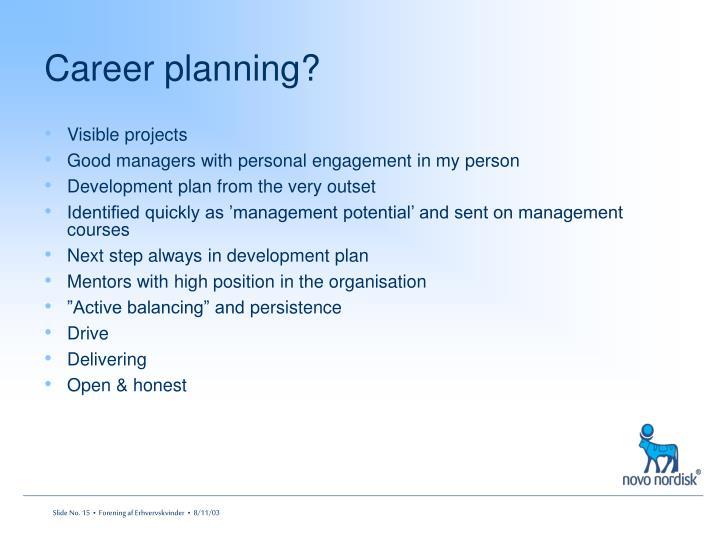 Career planning?