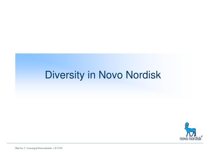 Diversity in Novo Nordisk