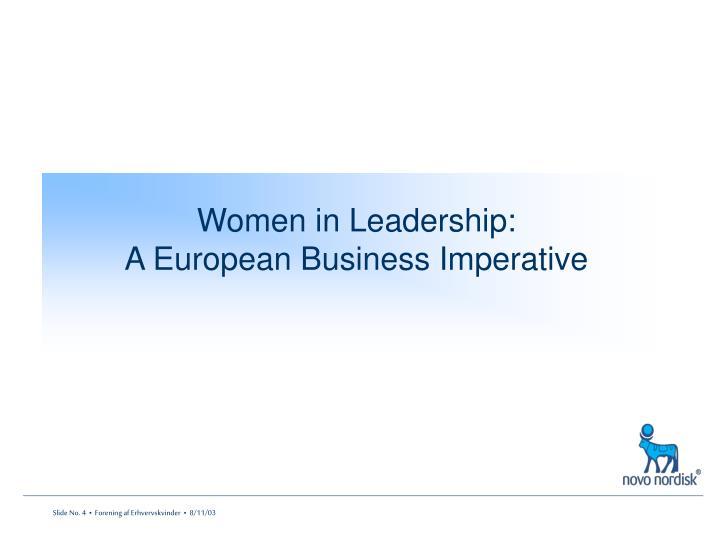 Women in Leadership: