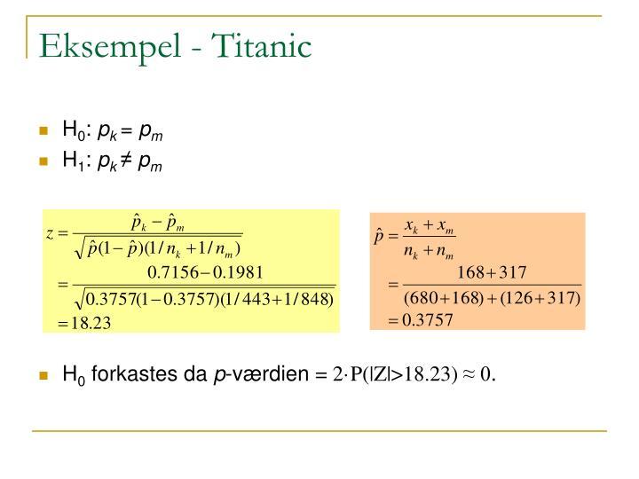 Eksempel - Titanic
