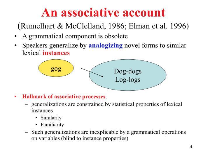 An associative account