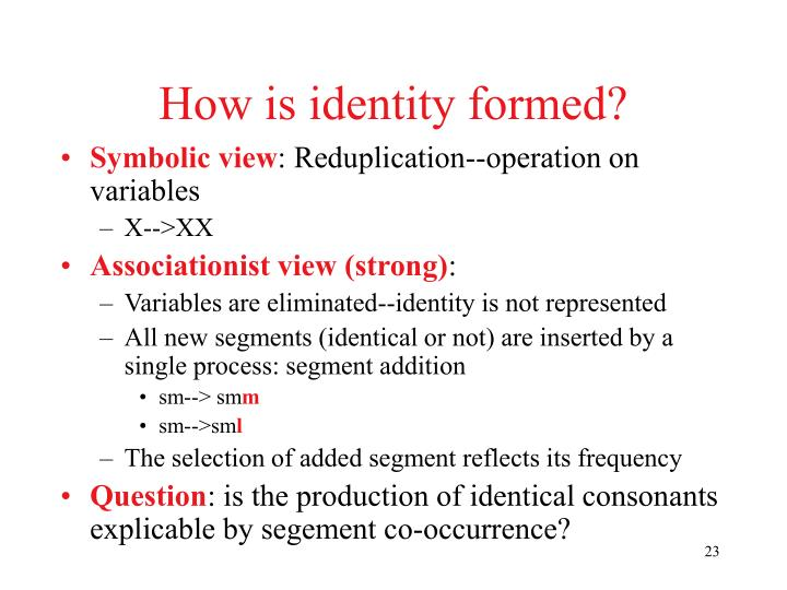 How is identity formed?