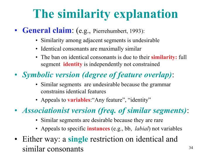 The similarity explanation