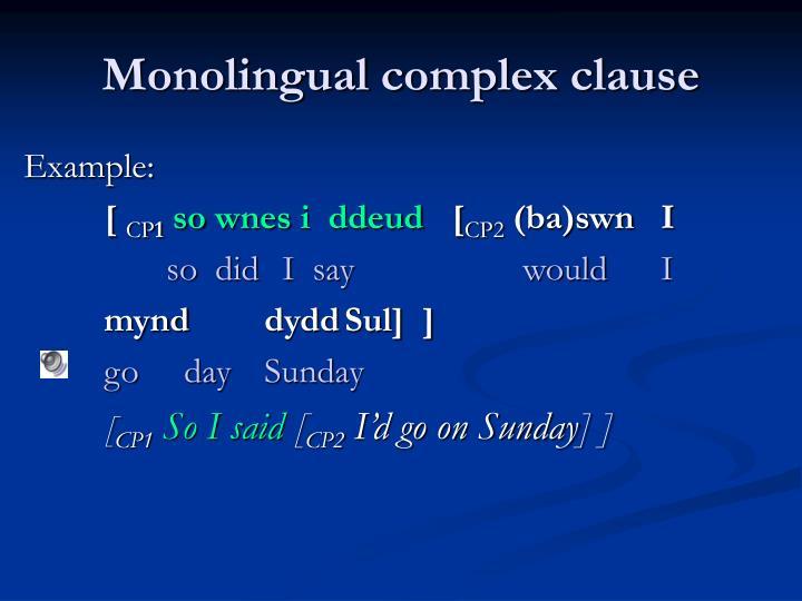 Monolingual c