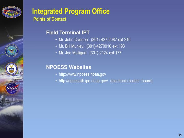 Integrated Program Office
