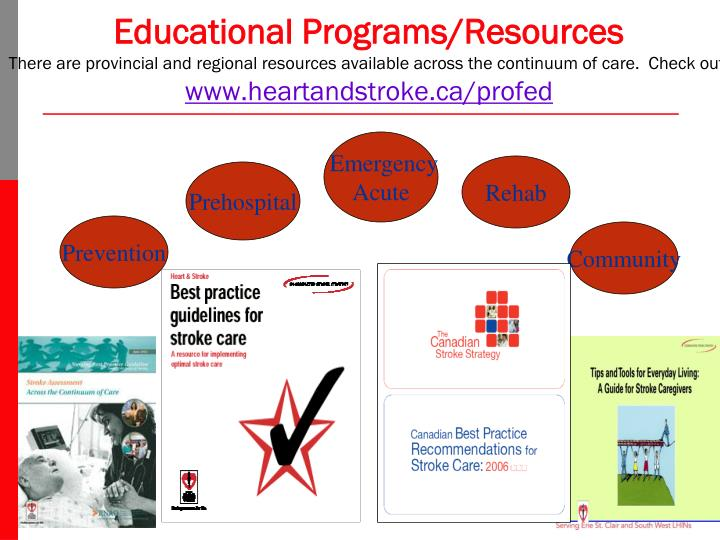 Educational Programs/Resources
