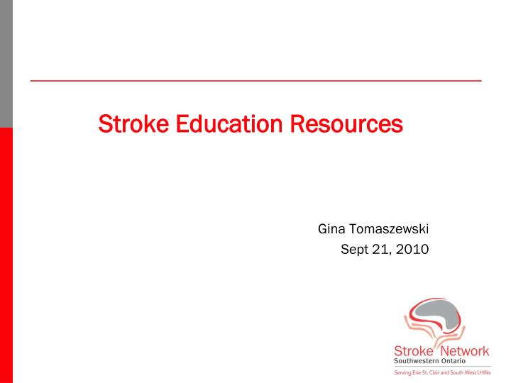 Stroke Education Resources