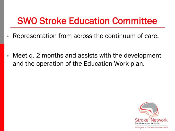 SWO Stroke Education Committee