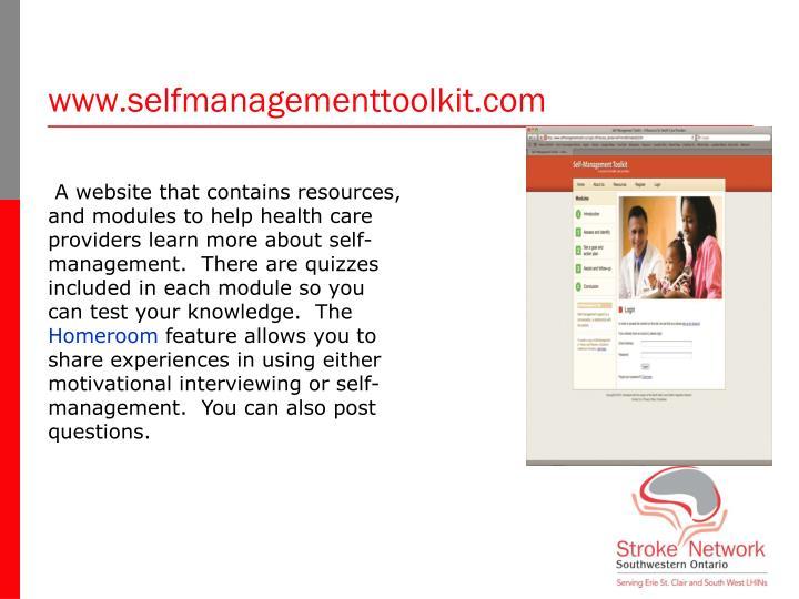 www.selfmanagementtoolkit.com