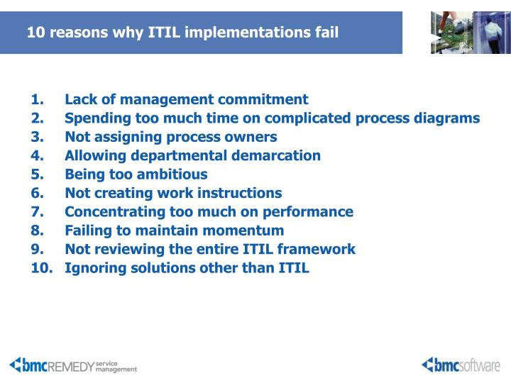 10 reasons why ITIL implementations fail