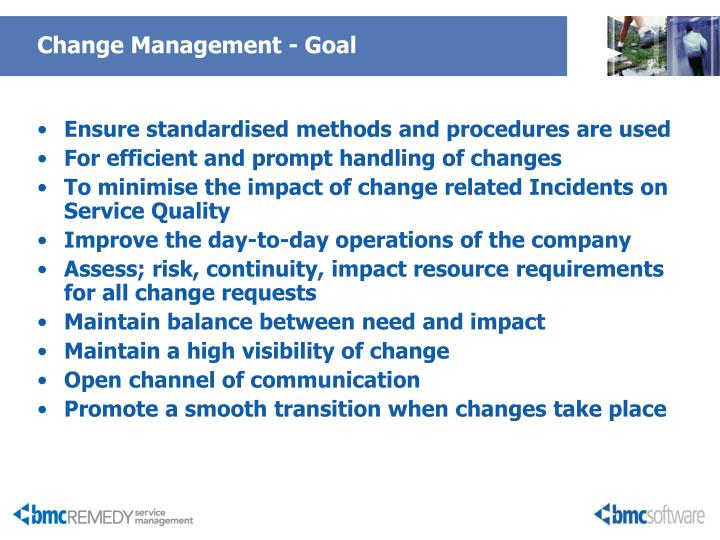 Change Management - Goal