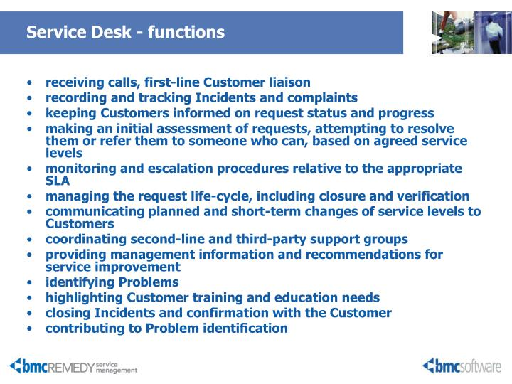 Service Desk - functions
