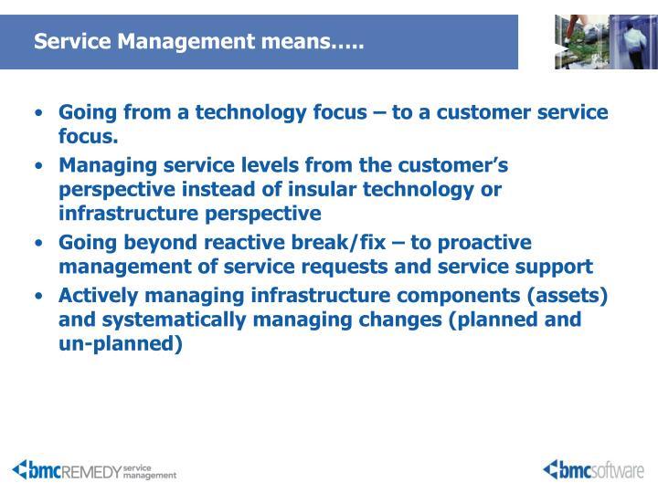 Service Management means…..