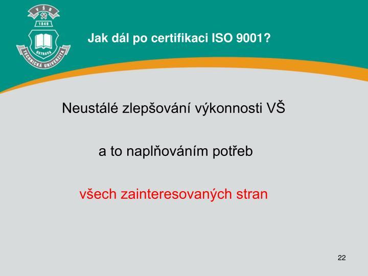 Jak dál po certifikaci ISO 9001?