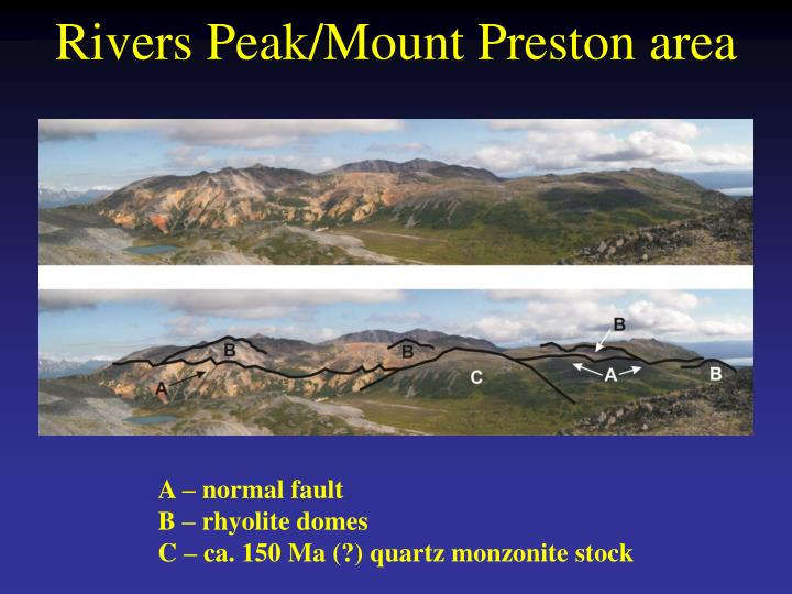 Rivers Peak/Mount Preston area