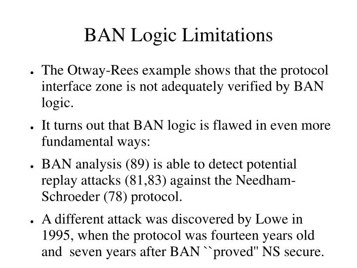 BAN Logic Limitations