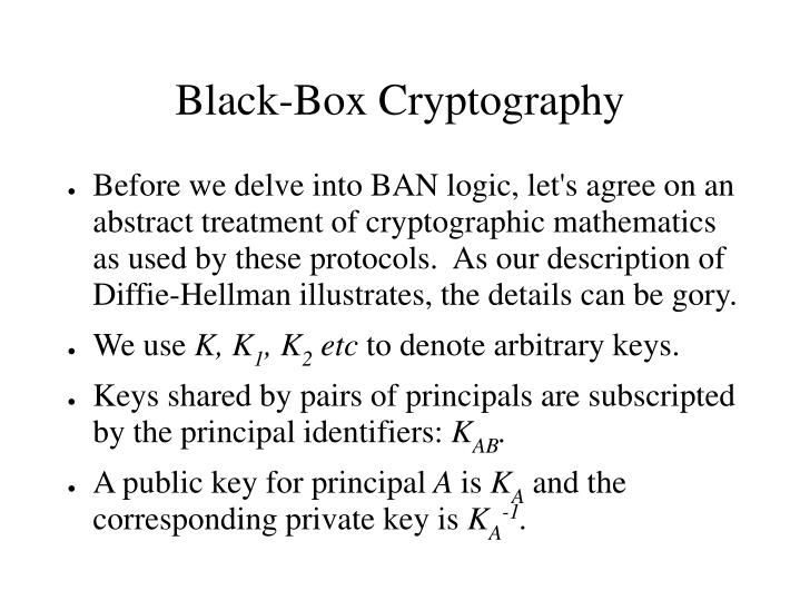 Black-Box Cryptography
