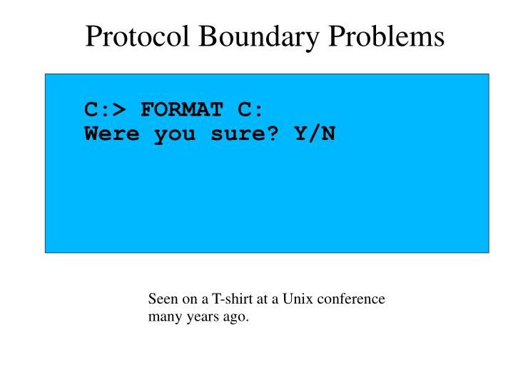Protocol Boundary Problems