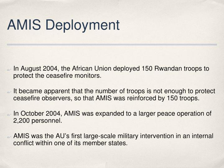 AMIS Deployment