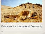 failures of the international community