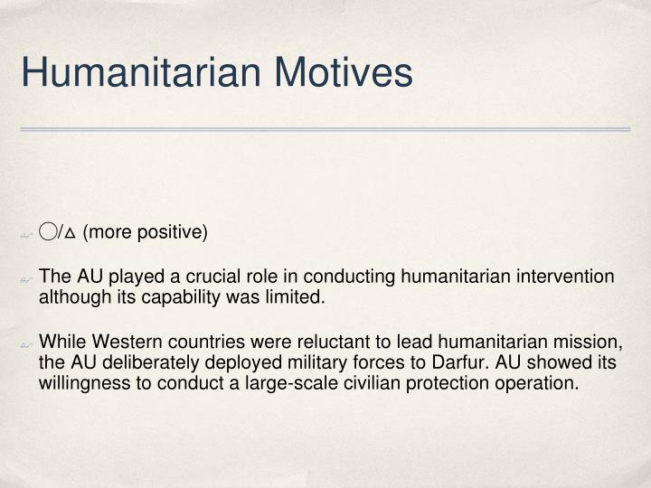 Humanitarian Motives