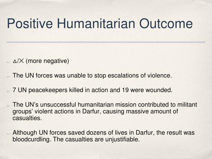 Positive Humanitarian Outcome