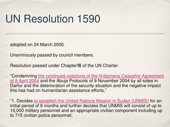 UN Resolution 1590