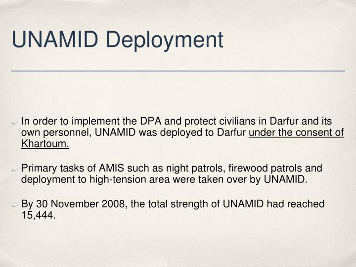 UNAMID Deployment